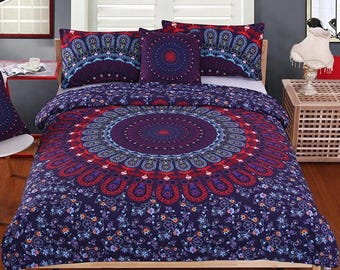 Mandala Multi-colors  3pcs set bedspread