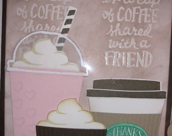 Stampin up happiness coffee blank note card with envelope