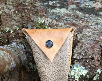 Recycled Leather Tiny Pouch