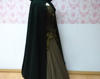 hooded cape wool / hooded cloak  woolen / woolen hooded cape / fantasy cape / woolen medieval cape / victorian cape / larp cape Halloween