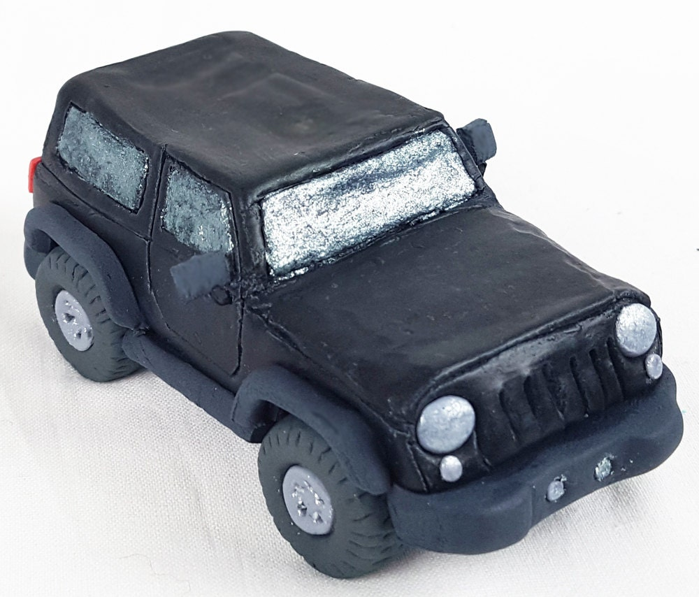 Edible Jeep fondant cake topper Edible figurine of a car or