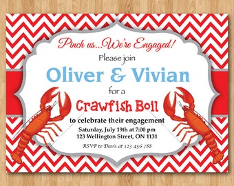 Diy crawfish invite Etsy