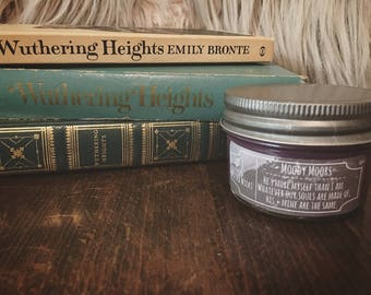 Moody Moors - 4 oz. Bookish Soy Candle - Wuthering Heights - Wilted Wicks