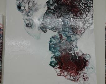 Smoke  Acrylic Painting withh Gloss Finish
