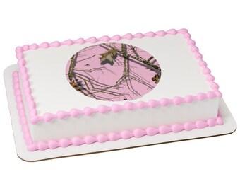 Mossy Oak® Break Up® Pink Silhouette Edible Cake Topper