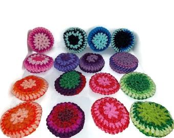 Purple Starburst Scrubbers, Crochet Pot Scrubber, Nylon Dish Scrubbie, eco friendly Scrubbie, Dish Scrubby,  Scrubby, Nylon Kitchen Scrubbie