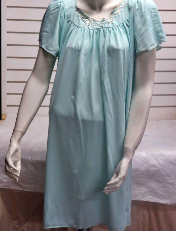 Miss Elaine Vintage Nylon Nightgown Size XL 586