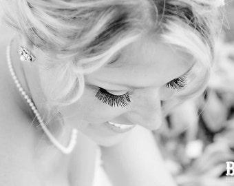 Bridal Earrings, pearl rhinestone earrings, Rhinestone Wedding Earrings, bridal stud Earrings, swarovski crystal earrings, pearl, ROSELANI