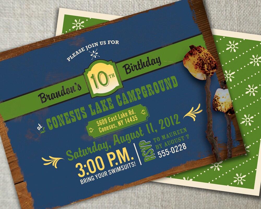 Contemporary Outdoor Party Invitations Ornament - Invitation Card ...