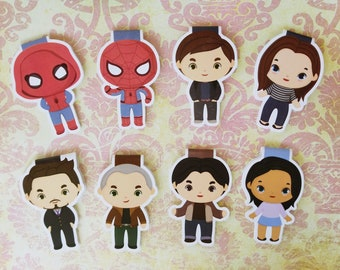 Spiderman — magnetic bookmarks