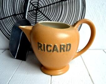Grand Français RICARD cruche pichet Pastis en céramique Vintage