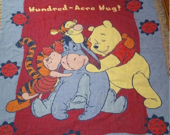 Disney! Winnie the Pooh Tigger Eeyore and Piglet Blanket Quilt Bed Home Living