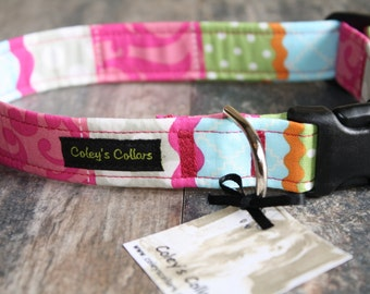 "Dog Collar, Dog Collars, Girl Dog Collar, Boy Dog Collar, Female Dog Collar, Modern Dog Collar, trendy Dog Collar,  ""The Alyssa"""