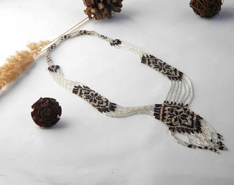 Seed Bead Necklace Long