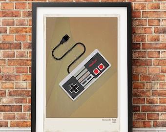 Retro Nintendo Video Game Print