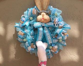 Easter Bunny Wreath, Easter Bunny, Easter Wreath, Bunny Wreath, Spring Wreath, Front Door Wreath, Easter Decoration, Bunny Decoration.