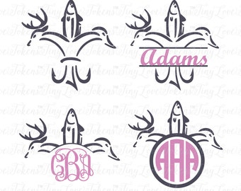 Hunting Life Fleur De Lis SVG Design for Silhouette and other craft cutters (.svg/.dxf/.eps/.pdf)