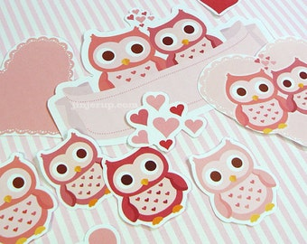 Kawaii Owl Owlways Love You Stationery Cute Valentine's Day Love Birthday Party Invite Card Giftwrap Printable PDF