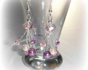 GORGEOUS Pink Purple SPARKLE earrings