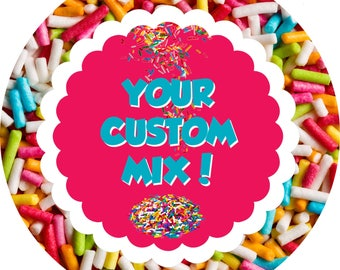 Custom Sprinkles, Edible Sprinkles, Cake Sprinkles, Cupcake Sprinkles, Birthday Sprinkles, Gourmet Sprinkles, Baking decor, Sprinkle Mix