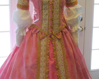 DDNJ Choose Color Cotton Fantasy 5 pc Plus Custom Made ANY Size Wedding Queen Princess Mardigras Court Fairy Lolita Anime Larp Pirate Wench