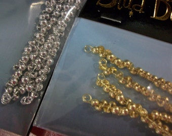 Stud Buttons 100 Count Gold or Silver Rhodium Plate