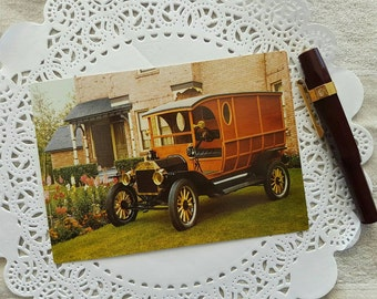 Vintage Postcard of a 1914 Ford Model T Vehicle from Heritage Park in Calgary Alberta