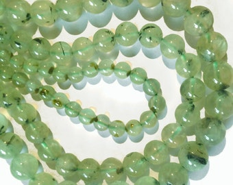 Prehnite smooth rounds.  Approx. 6mm.   Select a quantity.