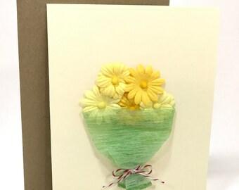 Hand made card, Flower card, all occasion card, thank you card, congratulation card, happy birthday card, i love you card