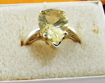 Oregon Sunstone ring- sterling silver ring -filigree band ring - Champagne Oregon Sunstone  - Pear Oregon Sunstone Ring - Solitaire Ring #18