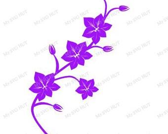 Orchid on stem svg
