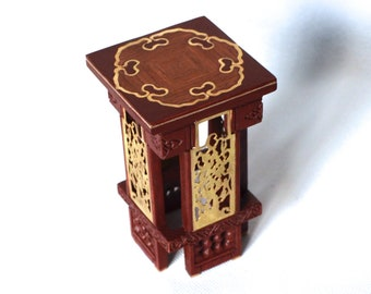 J.Rajtar Cherry 1/6 scale OOAK stool for collectible dolls.