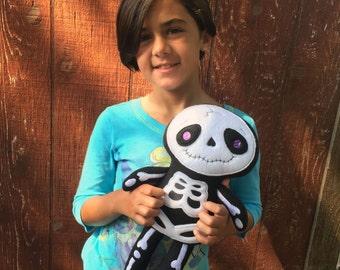 Skeleton Doll - Handmade Skeleton - Skeleton Plush - Stuffed - Plush - Skelly - Day of the Dead - Skeleton Toy - Halloween - Decor