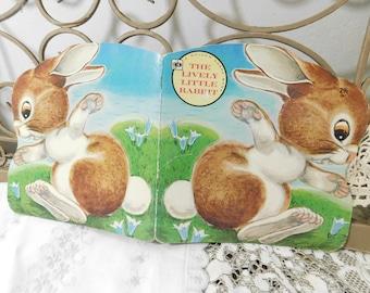 The Lively Little Rabbit Book A Golden Shape Book 1970, Golden Books paper Back, Vintage Children's Book, Rabbit, Bunny  :)s*