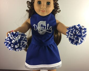 Custom Doll Cheer Outfit