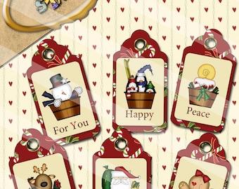DIY Digital Christmas Gift Tags Two CT002