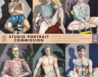 """Studio Portrait Commission (18""""x24"""")"""
