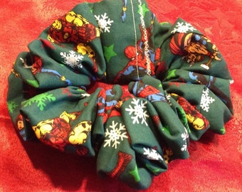 Iron Man Spiderman Thor Christmas Marvel Comics Scrunchie Scrunchy Perfect for Low Ponytails! Free US Shipping!!