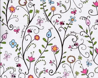 Heidi Grace - Bugs in the Garden - Flannel - 32 inches - End of bolt