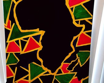 AFRICA. Acrylic painting of Africa.