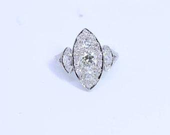 Rare and stunningly beautiful 1930's diamond ring