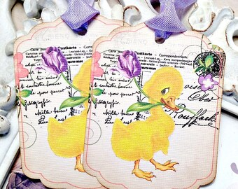 Baby girl parasol umbrella tags shabby chic baby shower favor tag duck easter tags set of 6 easter favor tags easter treat tags easter gift tags shabby easter tags vintage easter tags easter basket tags negle Choice Image