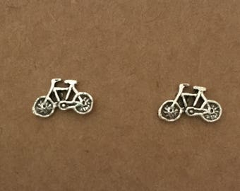 Sterling Silver Bicycle Earrings, Stud Earrings, Bike, Earrings, Sterling Silver, Bicycle, Silver, Sterling Silver Stud Earrings, Australia