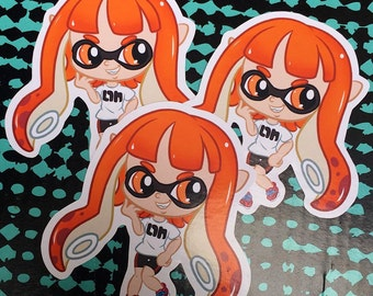 Splatoon Orange Inkling Girl Sticker