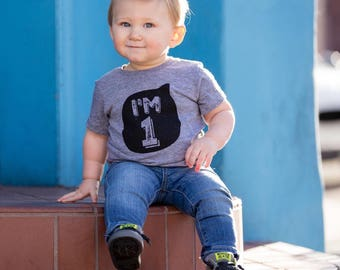 I'm one, birthday tee, kids birthday shirt, first birthday shirt, boys and girls shirt, hipster kids clothing, trendy kids clothes