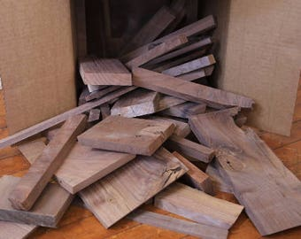Scrap Wood - Reclaimed Wood - Walnut Wood Blocks - Craft Wood - Exotic Wood Scrap - Hardwood Scraps - Scrap Lumber - Blanks - FREE SHIPPING