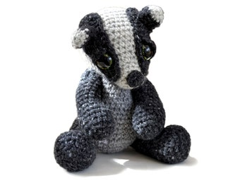 Amigurumi Badger Crochet Pattern PDF Instant Download - Ambrose