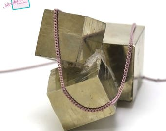 "1 m 02 ""1.5 mm wavy"", purple/Gold Mesh chain"
