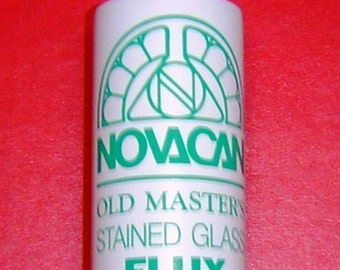 Copper Foil Solder FLUX - Novacan Old Masters 4 oz. Water soluable, so easy to clean. . BEST VALUE .