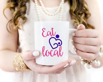 Eat Local | Breastfeeding | Breastfeeding Decal | Breastfeeding Car Decal | Breastfeeding Mom | Mom Decal | Crunchy Mom Decal | DECAL ONLY